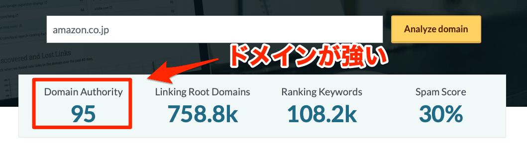 ドメイン力が強いサイトからの被リンクが効果的